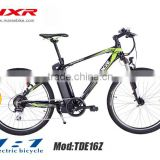 Newest 24V/36V/250W li-ion battery middle motor mountain electric bicycle with CE certification
