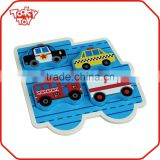Kids Educational Small Vehicle set Model Block Wholesale Wooden Puzzle Box