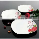 20 pcs square dinner set,square porcelain dinnerware and ceramic dinner set with tea set