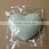 2012 most-popular heart shape nature konjac facial sponge , Konnyaku face puff