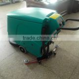 Electric floor scrubber, with double 12V 140Ah battery