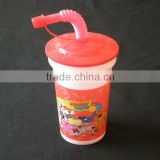 Plastic 3D Lenticular Kid drinking cup