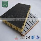 Five layer composite acoustic board, prominent sound absorption effect for indoor environment