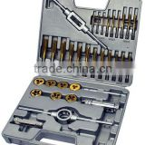 34PC DIN M3-M12 tap and die set hand tools and construction hardware