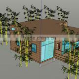HOT SALE beautiful prefabricated villa container house , DIY home for living, villa, vacation