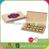 Custom empty wedding truffle chocolate wooden box
