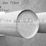 Filter media of stainless steel sintered mat cartridge / sus 316Lsintered mat/ sintered no-woven fiber felt filter cartridge
