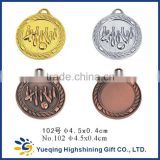 102# Cheap gold silver bronze sports factory directly sale metal medallion craft badge award bowling medal