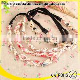 handmade beaded flower pony elastics ethnic hair accessories
