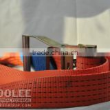 Truck lashing Strap, Tie Down Webbing with Ratchet Buckle