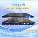 CATV digital headend equipment, encoder+multiplexer in one body,dvb-s2 tunner,RF modulator, Series Enco-modulator combo COL5011U
