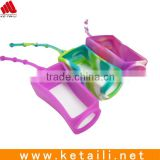 Promotional silicone 30ml hand sanitizer bottle holder