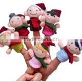 Finger Plush Puppet chrismas Happy Family Story Telling Dolls Support Children Baby Educational Toys JPtoys140701