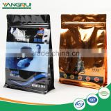 plastic bag with zipper and window flat bottom stand up dog food bag                                                                                                         Supplier's Choice