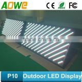 Outdoor Usage and Video Display Function led sign screen / double sided outdoor scrolling led sign