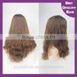 Alibaba Top Grade New Arrival 100% human hair Lace Wig Side Part Lace Front Wig Jewish Wig