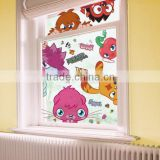 Wholesale custom cartoon static cling sticker uv resistant window decals waterproof reusable non glue window decals manufacturer