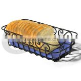 Bread Basket, Black, Elegant Scroll Design Bread Basket
