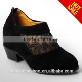 Women Ankle Boots Sexy Hollow Lace Height Increasing Boots Suede Leather Shoes