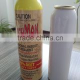 Aluminum empty aerosol body spray can