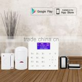 Android + IOS APP application easily control,868mhz wireless cdma wifi home security alarm system