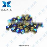 Hot fix point back Sapphire AB rough gemstone price loose rhinestone for jewelry