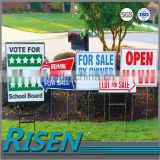 UV printed corflute yard sign with H stake ,advertising products corrugated Plastic Signs