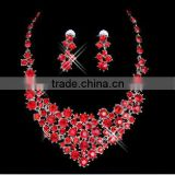 Free Shipping! Fashion Wedding Accessories cheap red rhinestone bridal Ladies' jewelry sets CWFan4894