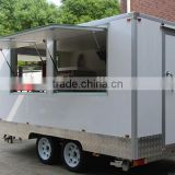 Factory Supply Mobile Ice Cream Cart, Customized Logo Street Fast Food Cart/ Fast Food Trailer