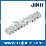 PE PP PA H U type Wire Barrier Terminal Blocks brass screw plastic Terminal Block Connectors