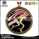WW2 medal matte gold plating reward iron zinc alloy metal medal casting us flag insert running medal marathon medal of honor
