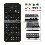 New High Quality 2.4G wireless fly mouse keyboard black