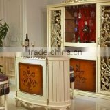 European Fashionable Bar Counter and Chair Set, Beautiful Design Wooden Wine Bar Counter for Homes (BF01-ML050)
