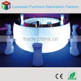 remote control battery operated party/event decorative round led bar counter/led table