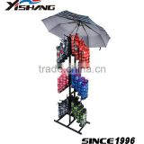 Retail store 3 tiers c handle inverted umbrella display stand