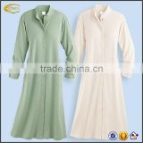 Women's soft knit long sleep robe long sleeve button down night shirt Drop Needle Robe