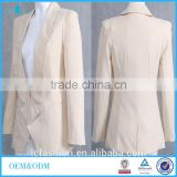hot sales 2016 women suit solid cotton/polyester two breasted vogue candy long sleeve fashion blazer LCB0012