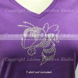 Hornet or Yellow Jacket Iron On Rhinestone Crystal T-shirt Transfer by Jubilee Rhinestones