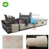 2015 Developed design colors glue lamination and embossing kitchen towel toilet paper machine