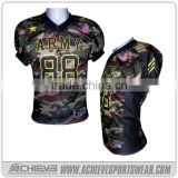 wholesale custom blank camo american football jersey uniforms