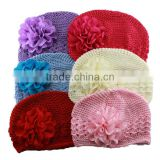 crochet beanies baby big flower hat