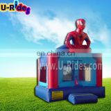 Customized inflatable hero man bouncy castles cartoon inflatable jumper inflatable toys jumper for amusement park