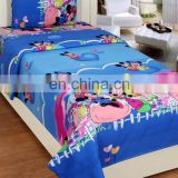 100% Cotton Single Bed Sheet With 1 Pillow Cover