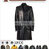HLI OEM Service Leather Coat for Women, Top Quality Leather Long Coat for Women