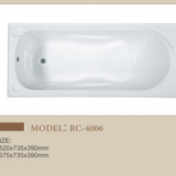 Modern Style Drop In Clear Acrylic Bathtub