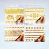 Flash tatoos foil gold temporary tattoo stickers