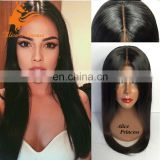 Natural Silky Straight Aliexpress Peruvian Hair Human Hair Full Lace Wig For Black Women Remy Hair Wig For Asian Women