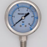 60mm All stainless steel  oil filled anti-shock pointer pressure gauge with dual scale