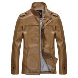 Latest Design Men's PU Leather Jacket Stocklot Leather Jacket Excess Garment Wholesale Apparel