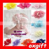 OXGIFT Baby Rose pearl flower hair band infant children's hair accessories headdress chiffon headband